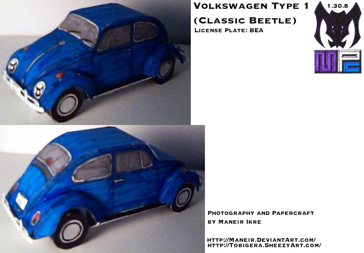 VW Bug Papercraft by Maneir