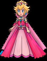 Queen Peach (Collab) by Luna2528CP