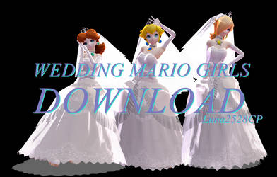 [MMD] Wedding Mario Girls Models DOWNLOAD by Luna2528CP