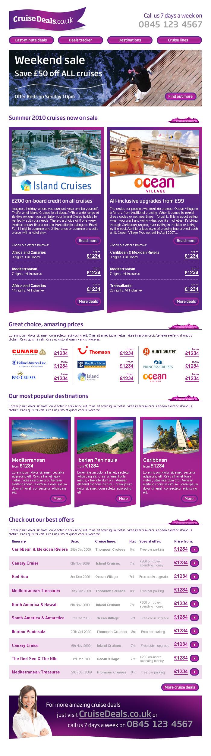 Cruise Deals Newsletter