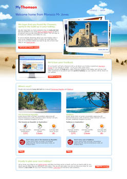Welcome Home page for Thomson