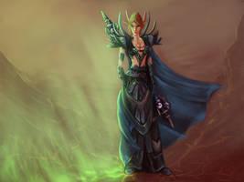 Blood Elf Mage by greyf0xuk