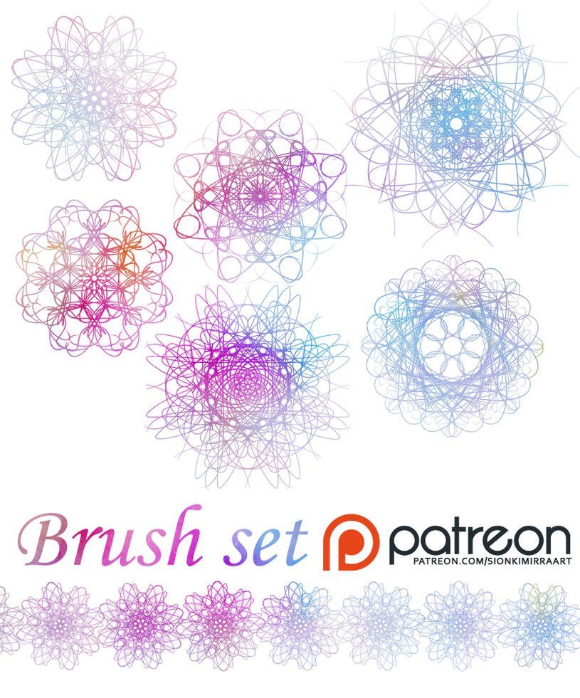 Patreon brush set preview by sionra