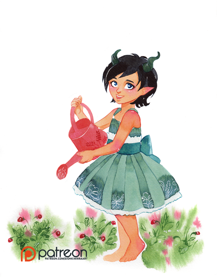 Watercolor request: Adalia by sionra