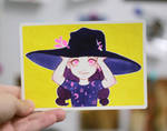 Watercolor postcard: Small witch