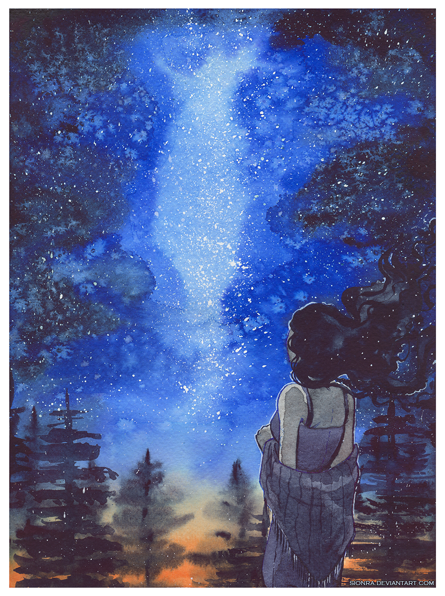 Watercolor commission: Stars