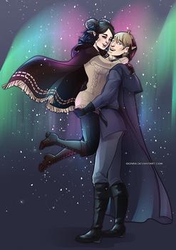 Commission: Aurora and Zeleano