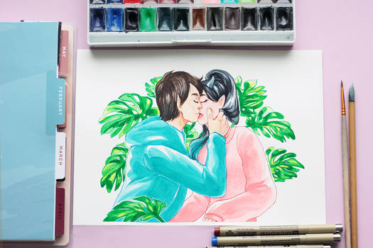 Watercolor: Be my Valentine