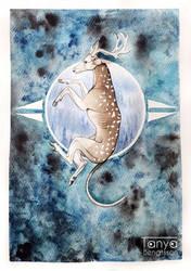 Deer-Whippet by RaggedVixen