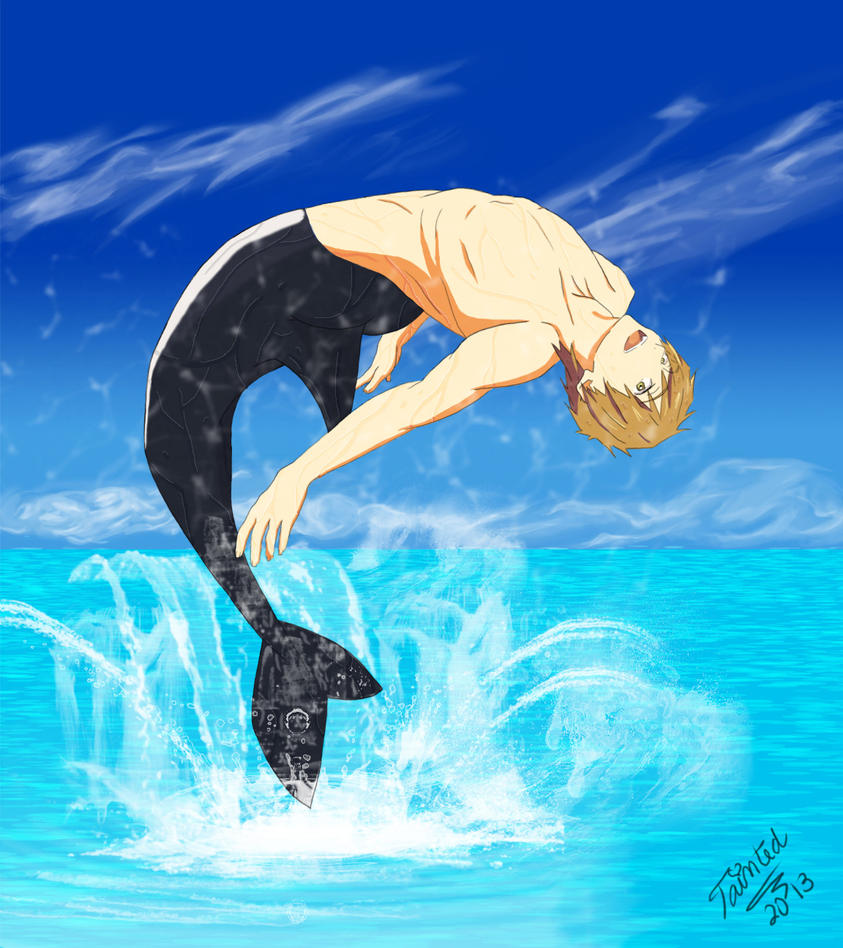 Merman Makoto by Tainted-reflection