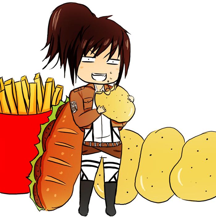 Potato Girl Sasha Shingeki no Kyojin by Mahadesu