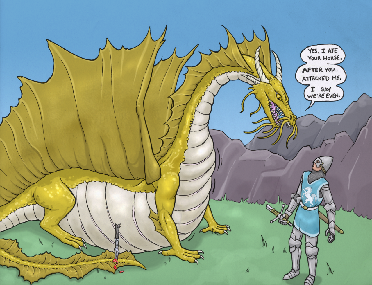 The dragon, the horse and the knight by Greedywoozle on ...