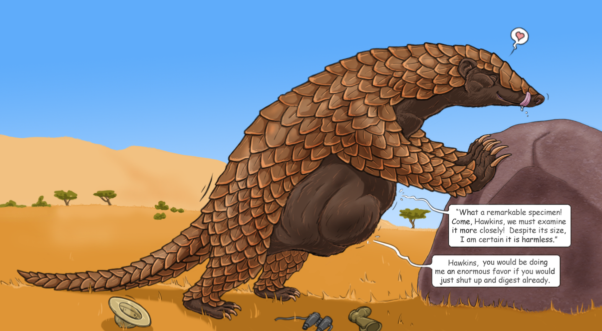 Giant pangolin vore by Greedywoozle on DeviantArt