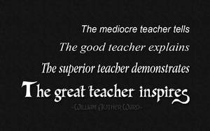The great teacher inspires by qazinahin