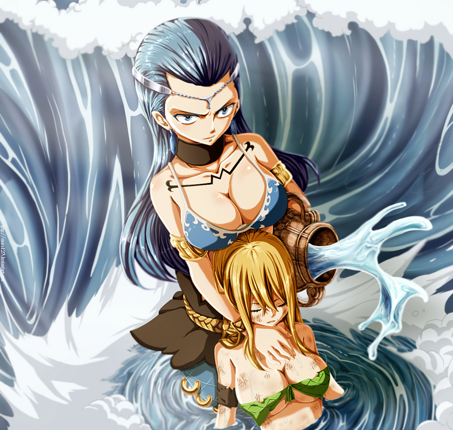 Aquarius protects Lucy_colored 261 by Enara123