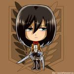 Mikasa chibi_commission
