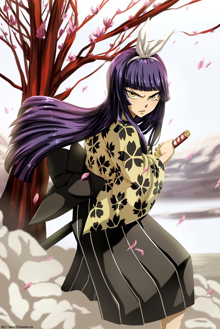 Kagura ready to fight colored commission by enara123 on - Kagura fairy tail ...