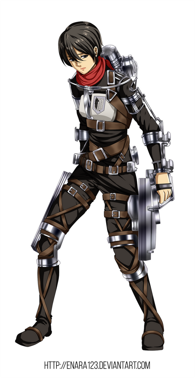 colored 417 mikasa ackerman new outfit by enara123 on