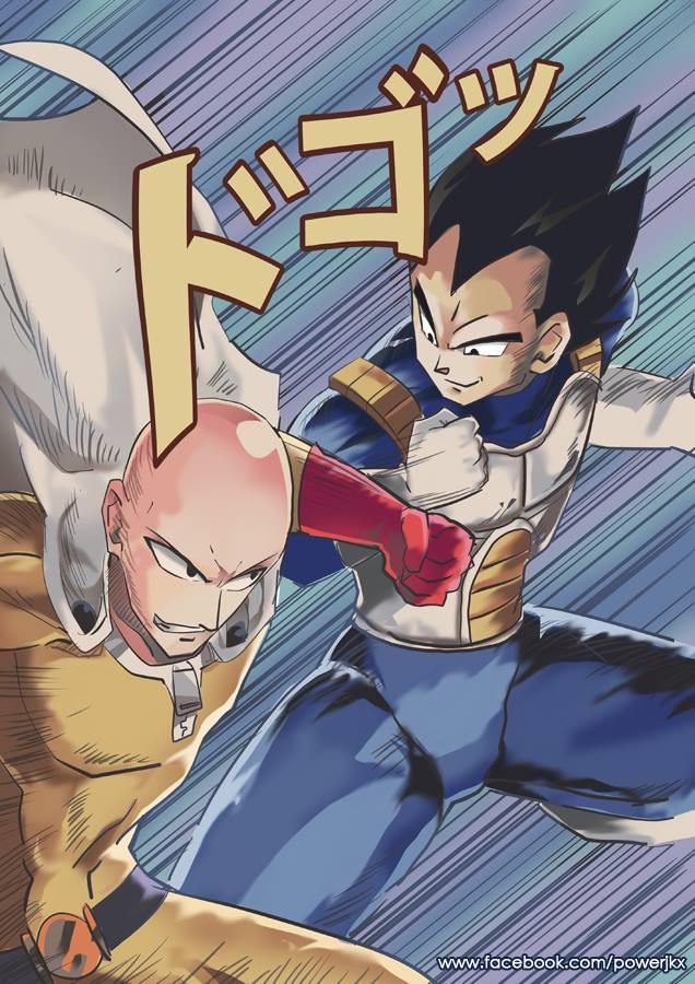 Saitama vs Vegeta by Power-J