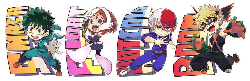 MHA - chibi stickers