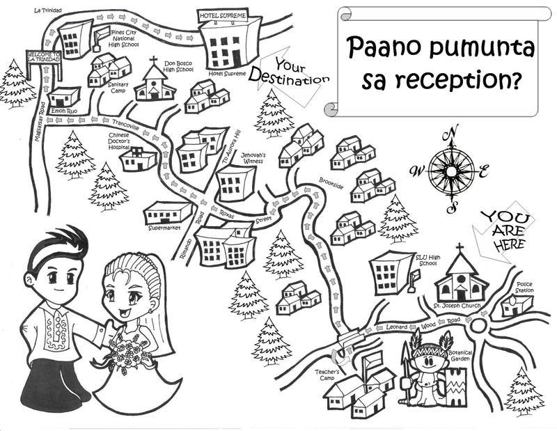 Wedding Invitation Map By Jokerjester Campos