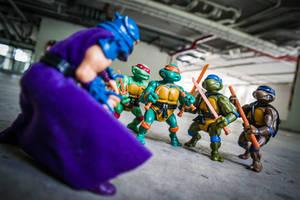 Taking Down Shredder by jokerjester-campos