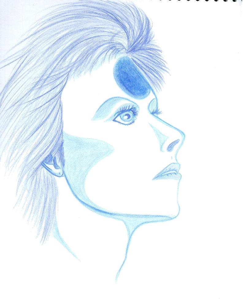 Bowie in blue by Prinzessinumi