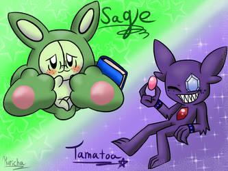 Pokemon- Sage and Tamatoa by kurichakira