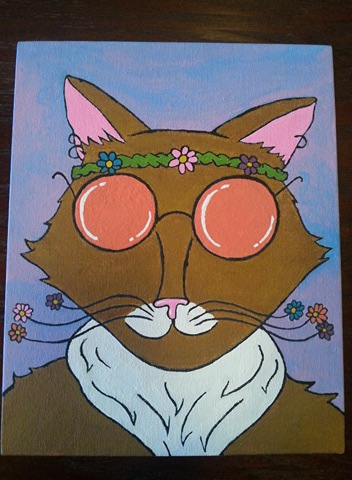 Trippy Hippy Cat by KatM0nster