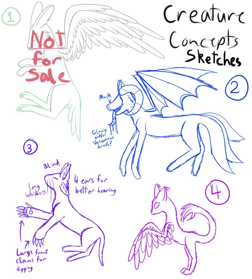 Creature Concepts - CLOSED by Kitsune-no-Suzu