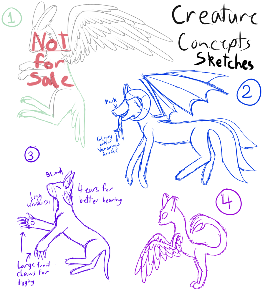 Creature Concepts - CLOSED by Kitsune-no-Suzu