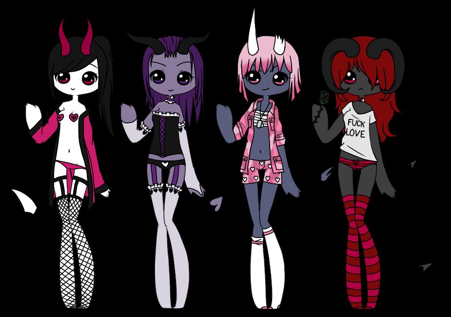 Undie Demons - CLOSED [Auction] by Kitsune-no-Suzu