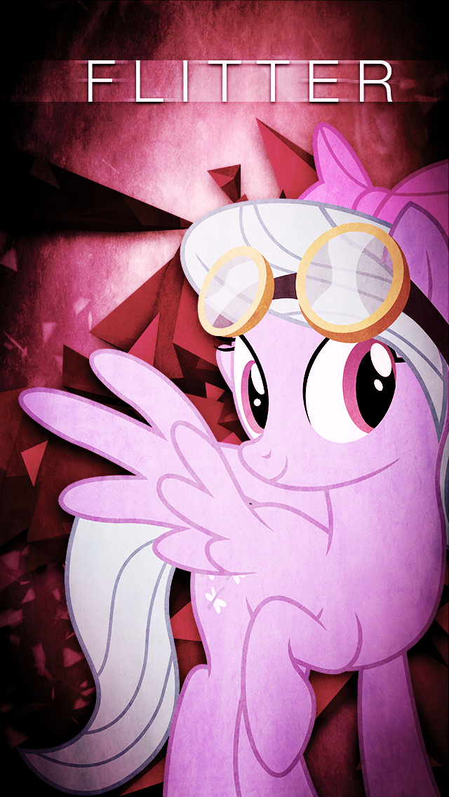 Flitter iPhone 5 Wallpaper by VisualizationBrony