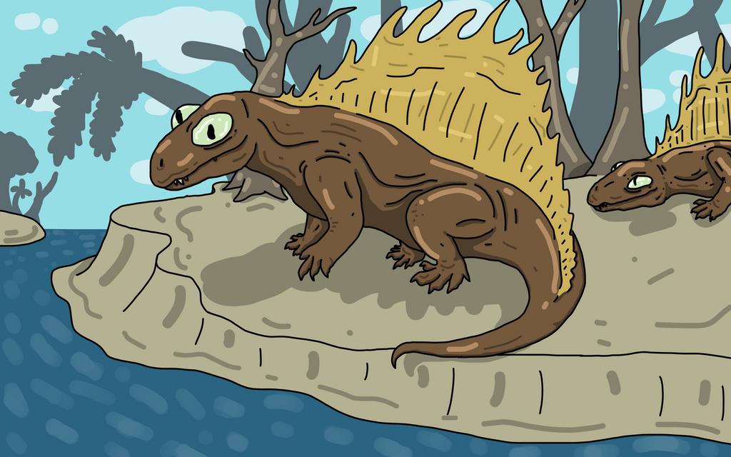 Dimetrodon by Gasmaskmax