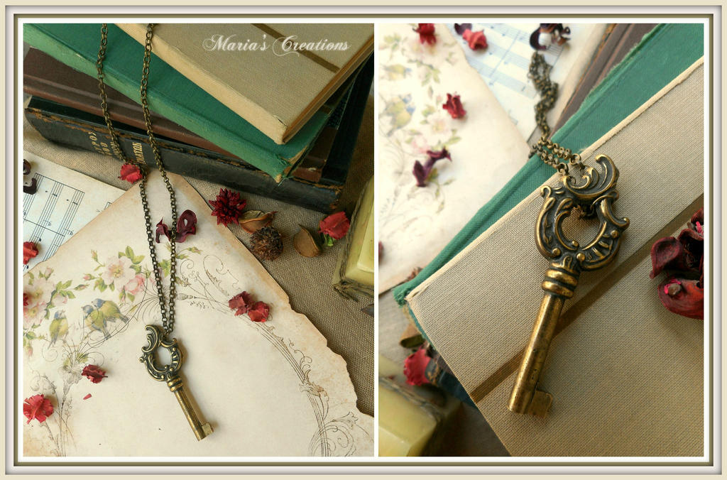 Vintage key necklace by marakigr