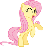 Fluttershy rearing up happily.