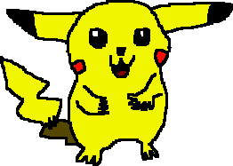 My very first drawing of Pikachu. by Flutterflyraptor