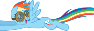 My first Rainbow Dash vector.