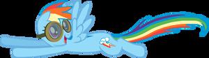 My first Rainbow Dash vector.