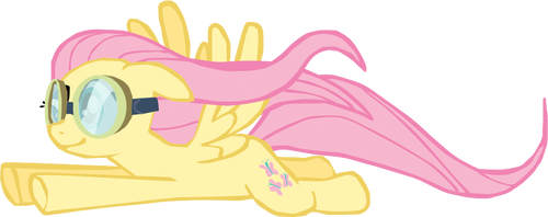 My first Fluttershy vector, upgraded version.