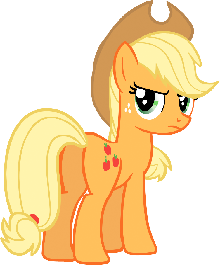 Applejack, being cool. by Flutterflyraptor