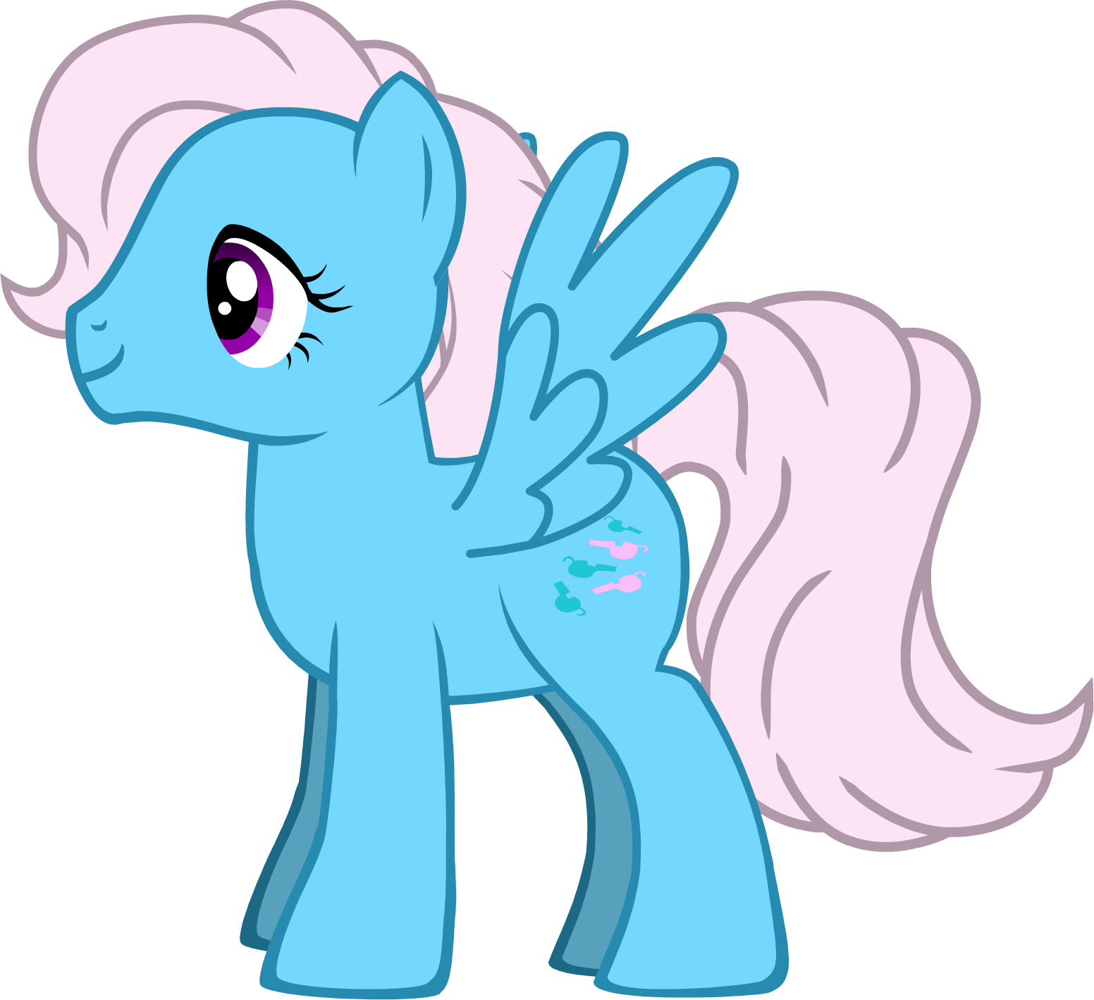 My first Wind Whistler from Pony Maker. by Flutterflyraptor