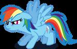 My third Rainbow Dash vector, upgraded version.