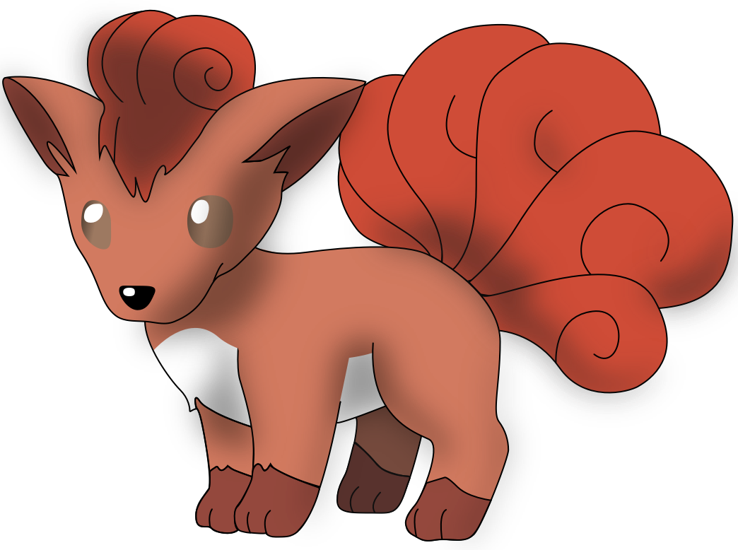 My first vector of Vulpix, updated version, 4. by Flutterflyraptor
