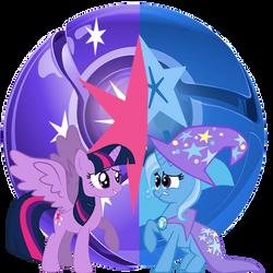 Princess Twilight Sparkle, vs Trixie. by Flutterflyraptor