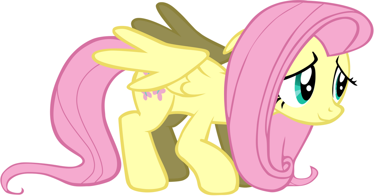 My fifth vector of Fluttershy. Remastered. by Flutterflyraptor