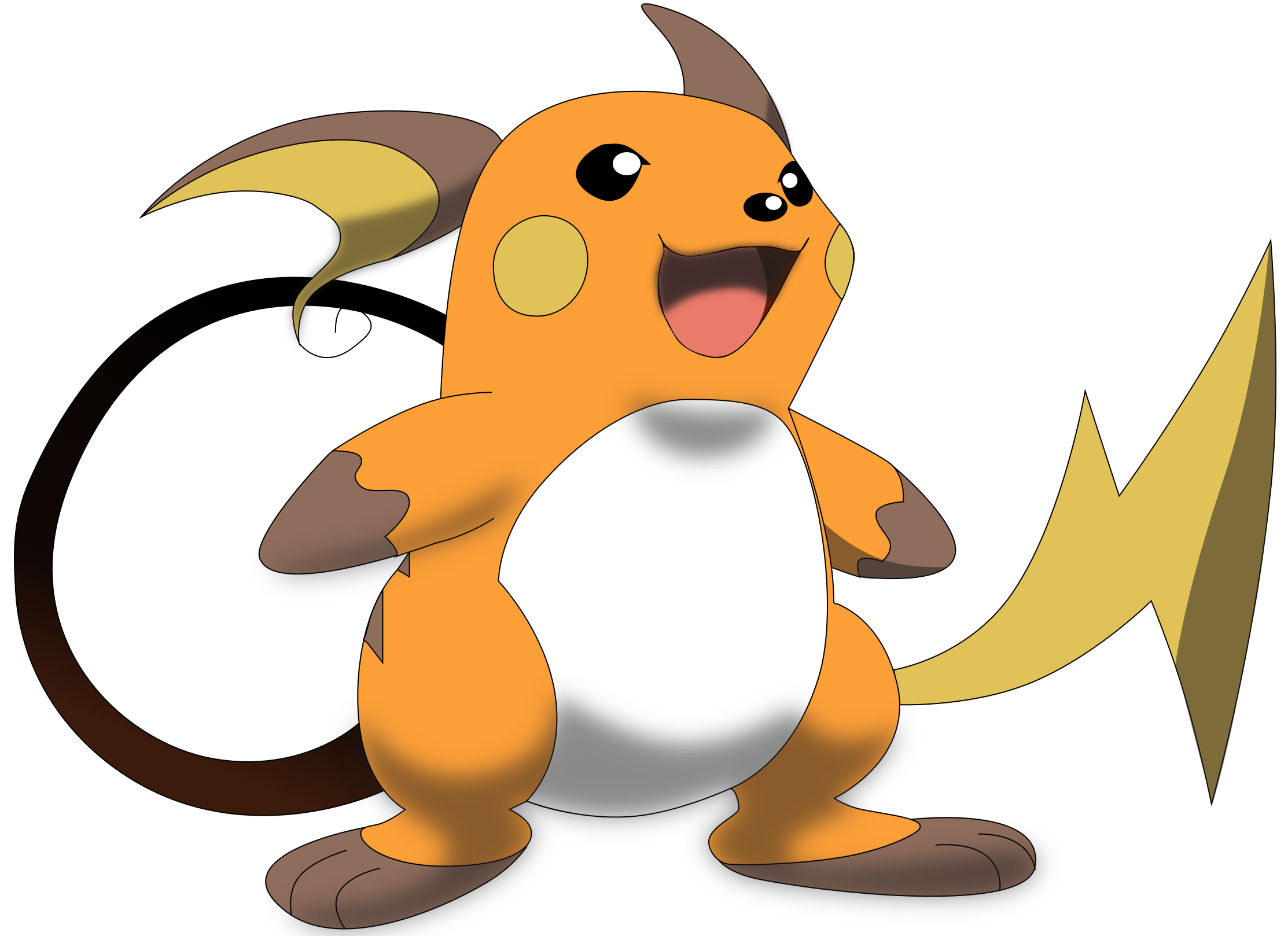 My second vector of Raichu. Version 2. by Flutterflyraptor