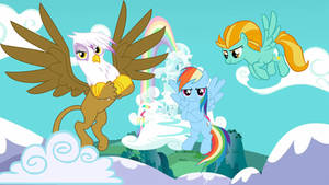 Rainbow Dash gets visited by some old friends.