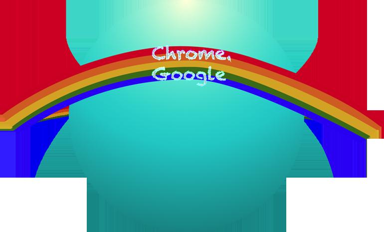 My first Rainbow Google Chrome Icon. by Flutterflyraptor