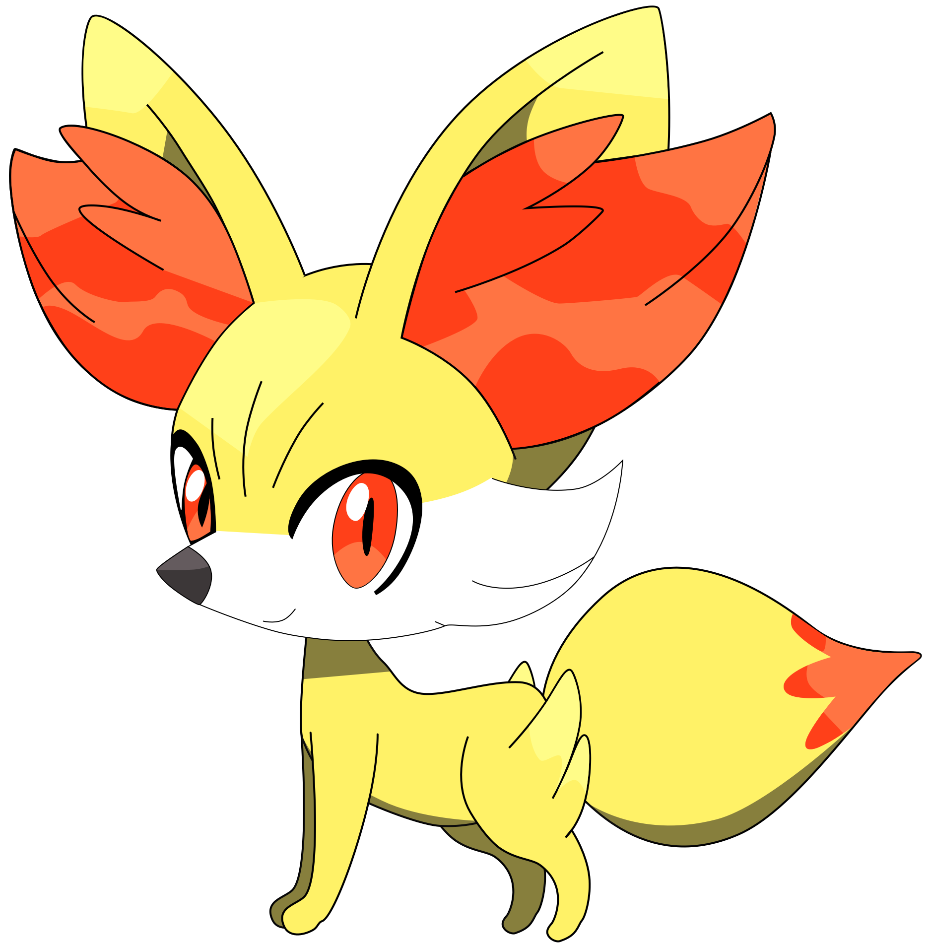flutterflyraptor my first vector of fennekin by flutterflyraptor